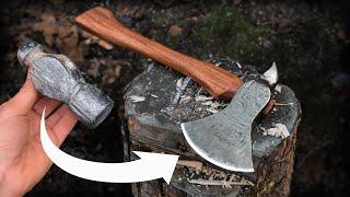 Hatchet Forged From Ball Peen Hammer | Blacksmithing