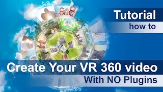 Tutorial how to add Photo Video to Your VR 360 video with NO Plugins in After Effects