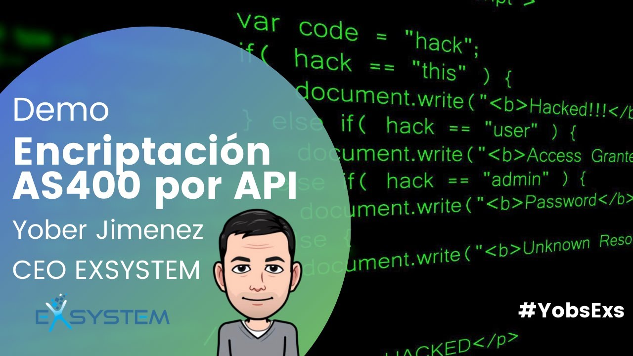 Demo de Encriptacion AS400 por APIs de TOWNSEND SECURITY - YouTube