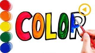 Learn kleur | Kleurplaten | Leren ABC | Kleurplaten voor peuters | Mini Kunst Kinderen