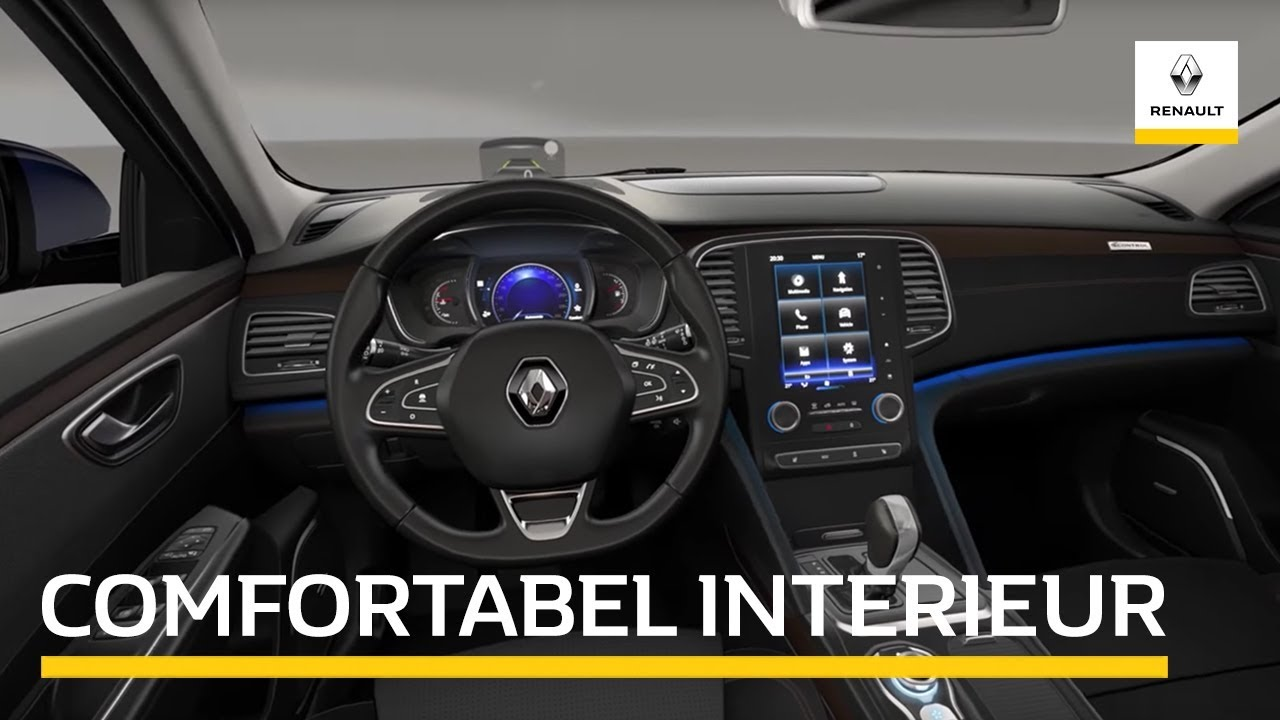 het interieur van de renault talisman youtube. Black Bedroom Furniture Sets. Home Design Ideas