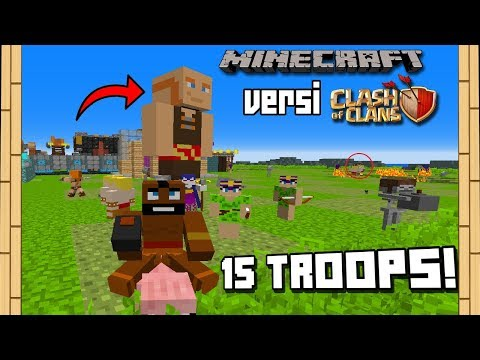 WOW! MOD 15 Troops Clash Of Clan VERSI Minecraft!! + Defense Tower - Minecraft Mod Experiment #62