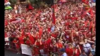 Real Mallorca, campeón de la copa del Rey del 2003. La celebración