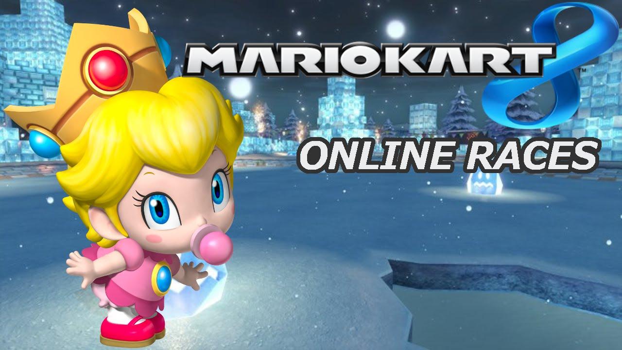 Baby Mario Mario Kart 8: Mario Kart 8 Online Races As Baby Peach (commentary)