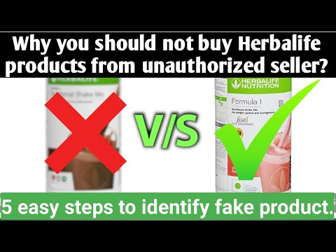 Why You Should Not Buy Herbalife Products From Unauthorized Website? How To Verify Product (English)