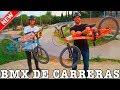 PROBAMOS UNA BMX DE CARRERAS!! - Pico el cuadro de mi bici en un muro...
