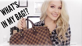 WHAT'S IN MY BAG || Louis Vuitton Speedy 30 Bandouliere Damier Ebene