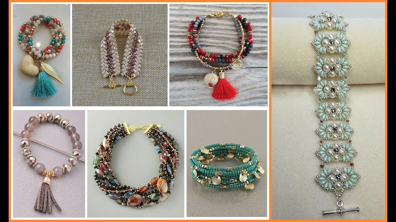 Beaded Bracelet Ideas=Handmade Beaded Bracelet Jewelry Design idea