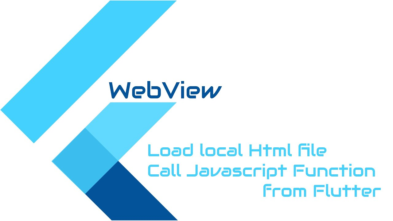 #Flutter Tutorial - Load Local HTML to Flutter Webviews || Call Javascript  from Flutter