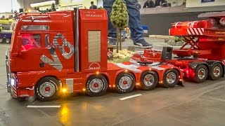 RC truck EXTREME! Stunning R/C heavy haulage with 2 operators!