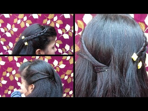French Braid Hairstyle Side Lace Twisted Hair With Braid Youtube