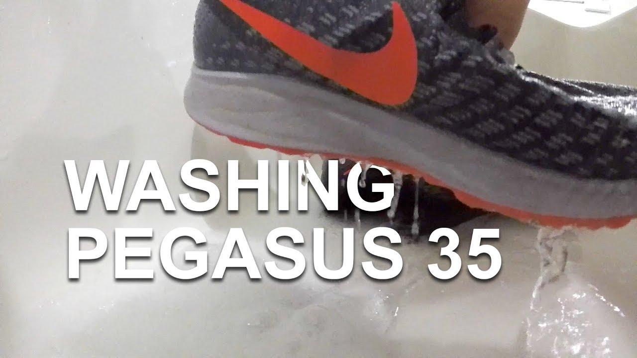 f4735224e20e Washing Running Shoes - Nike Pegasus 35 - YouTube