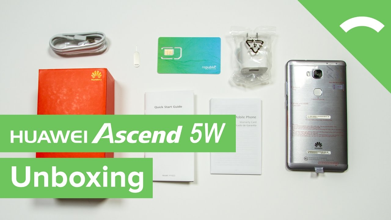 separation shoes ed89d f29af Unboxing the Huawei Ascend 5W