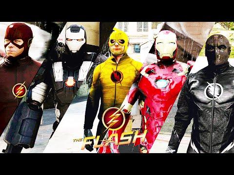 Team Flash VS  Team Iron Man (GTA 5 Ultimate Flash Mod) - BBPHOENIX