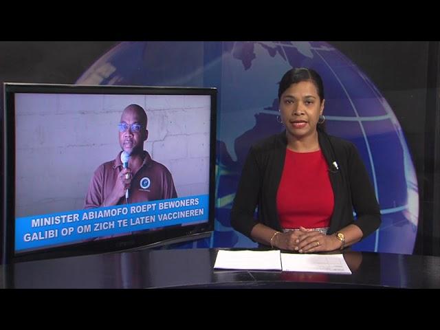 Minister Abiamofo roept bewoners Galibi op om zich te laten vaccineren STVS JOURNAAL 25 juli 2021