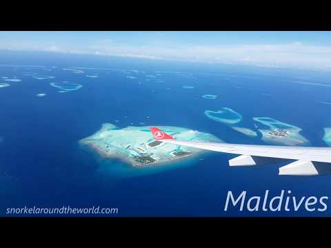Maldives from the air - Turkish Airlines landing at Male Airport