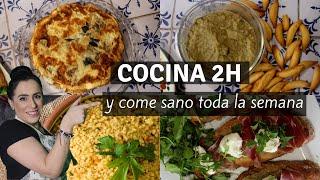 Batch Cooking MENU SEMANAL EN 2 HORAS