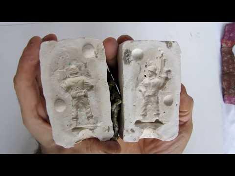 делать форму для объёмной модели воина для заливания свинца, для изготовить игрушку