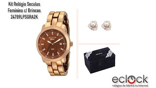 Kit Relógio Seculus Feminino . 6441bf060c