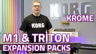 Korg M1 & Triton Expansion Packs for Krome - EXCLUSIVE NEW SOUNDS! Overview & Demo with Luke Edwards