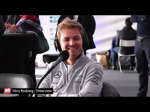 Entretien avec Nico Rosberg lors de l'Allianz Prévention Tour de Nice