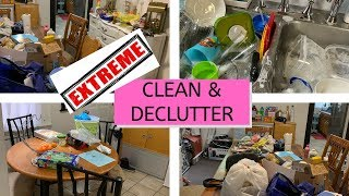 EXTREME CLEAN WITH ME & DECLUTTER // COMPLETE DISASTER // 3 HRS OF CLEANING AFTER WORK
