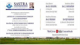 1st M.K. Nambyar Memorial Lecture