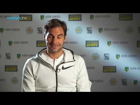 "Becoming oldest No.1 would ""mean the world"" says Roger Federer: Rotterdam 2018 Interview"