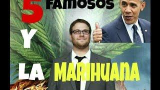 TOP 5 FAMOSOS y la MARIHUANA