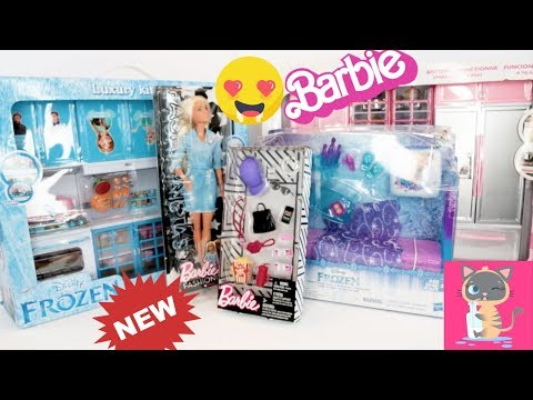 Barbie Fashionista Double Denim 49 & Barbie Accessories Pack Unboxing Toy Review Doll Collector Ep 1
