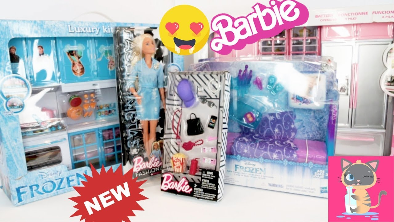 Barbie Fashionista Double Denim 49 & Barbie Accessories Pack ...