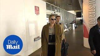 Maria Sharapova and Alexander Gilkes arrive at Los Angeles