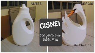 DIY - Cisne Reciclável (de embalagem ariel )