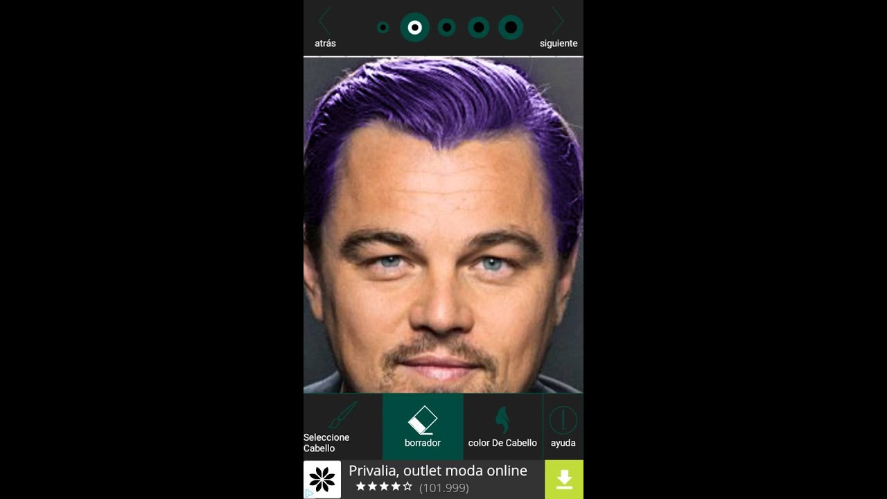 Cambio de color de pelo online