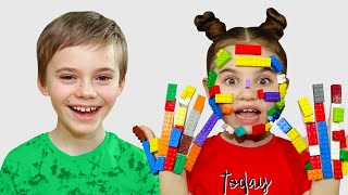 Pretend play Lego hands and more funny stories for children | 동요와 아이 노래 | 어린이 교육