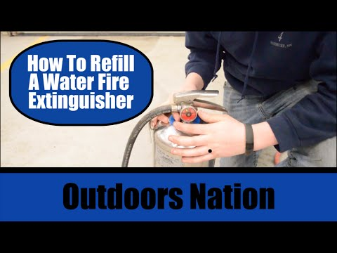 How To: Refill/Recharge a Water Fire Extinguisher [HD]