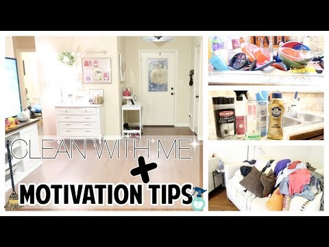 CLEANING MOTIVATION TIPS + CLEAN WITH ME | SUPER DIRTY HOUSE | SAHM