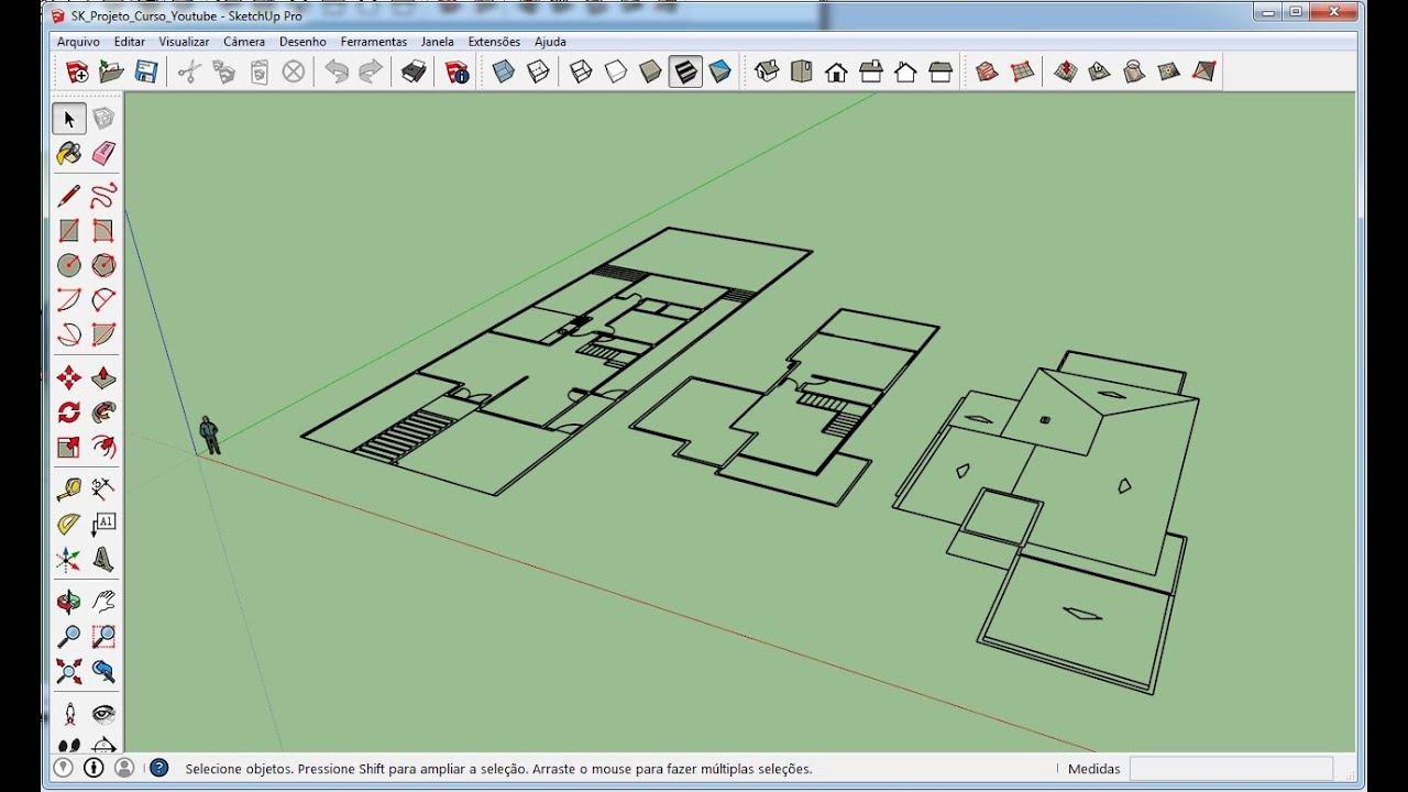 Desenhar Casas Sketchup 2015 Aula 12 Importando Arquivos Do Autocad