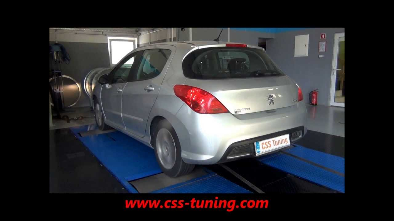 css performance peugeot 308 1.6 hdi 92 hp - youtube