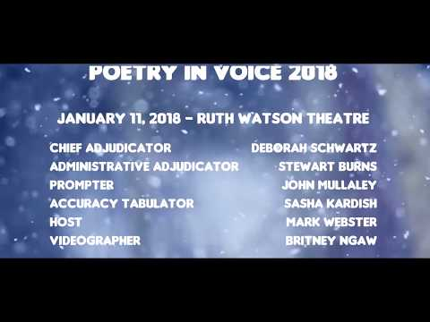 Poetry In Voice 2018