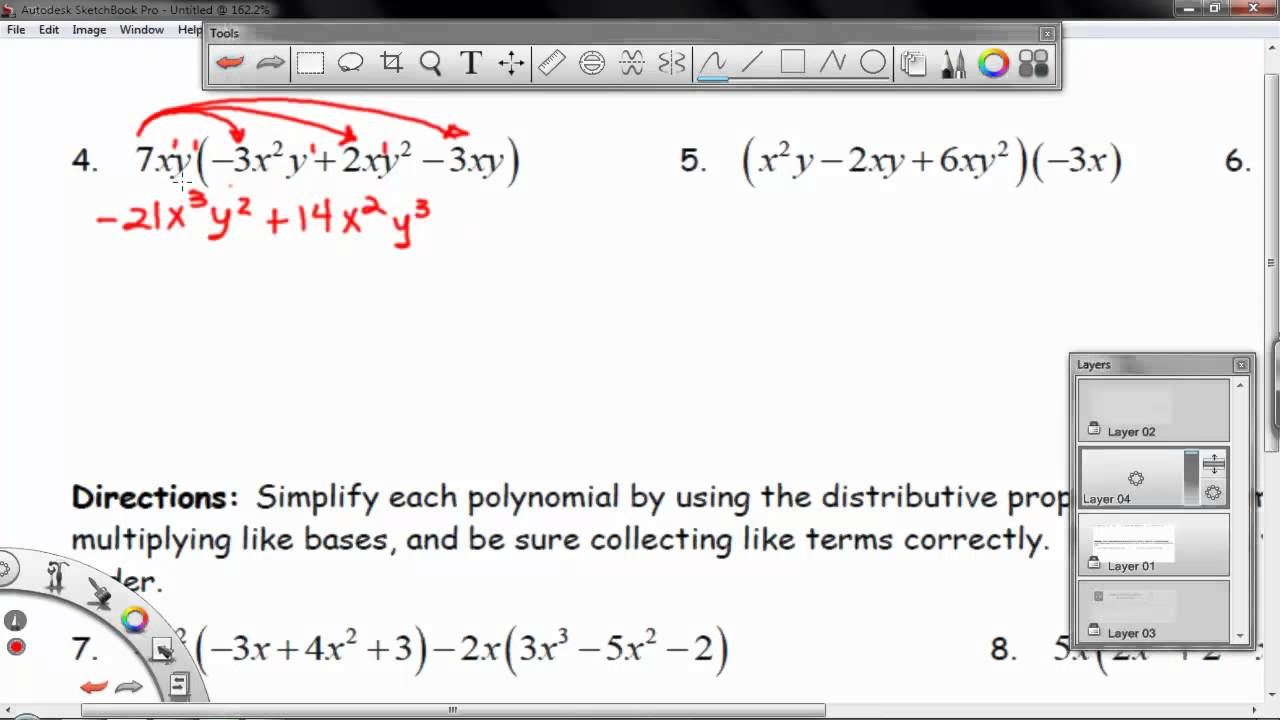 Worksheet 8.3A - Simplifying Polynomials - YouTube