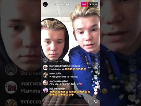 Marcus and Martinus ig livestream  22.04.17