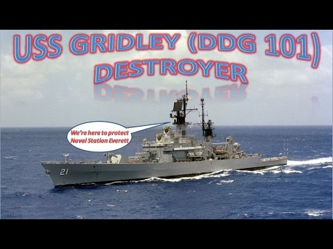 USS Gridley (DDG 101) Destroyer Arriving At Naval Station Everett