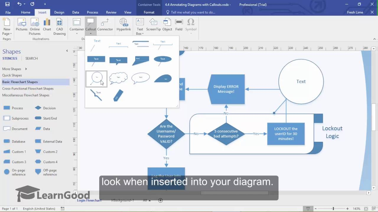 Microsoft Visio Tutorial - Annotating Diagrams With Callouts
