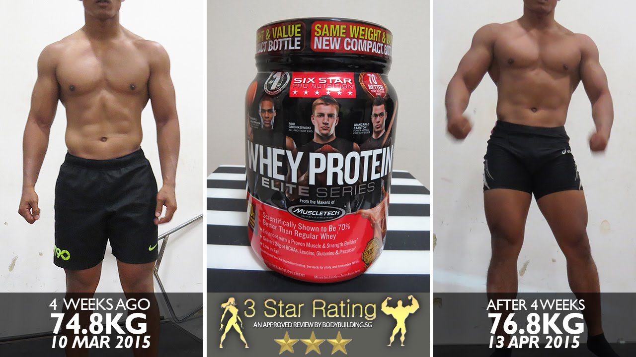 Six star whey protein results