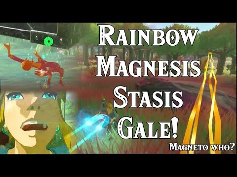 Rainbow Magnesis Stasis Gale! Catching Stasis in Zelda Breath of the Wild DLC