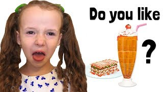 Do You Like Lasagna Milkshakes? Kindergarten food song by UT kids