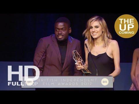 Daniel Kaluuya and Allison Williams receive BIFAs 2017 Best International Film award for Get Out