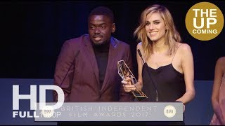 Daniel Kaluuya and Allison Williams receive BIFAs 2017 Best International Film award for Get Out