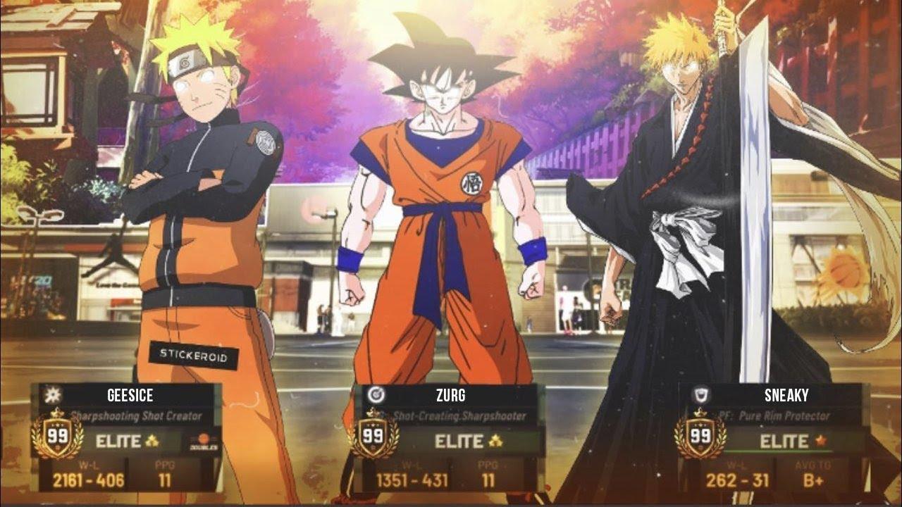 Anime Takesover The Park In Nba 2k20 Dragon Ball Z Naruto Shipudden And Bleach Ft Naruto Goku Ichigo Youtube
